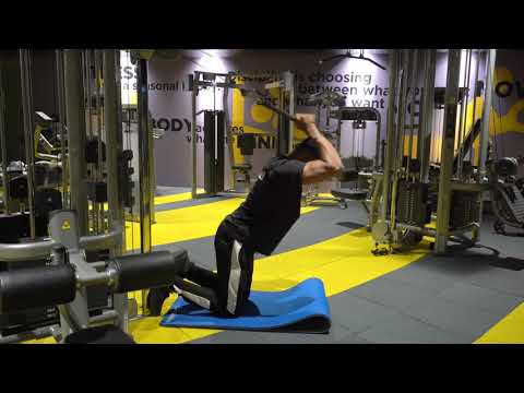 Cable Kneeling Triceps Extension
