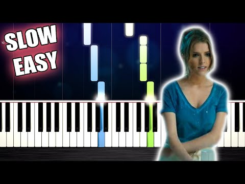 """Anna Kendrick - Cups (Pitch Perfect's """"When I'm Gone"""") - SLOW EASY Piano Tutorial by PlutaX"""