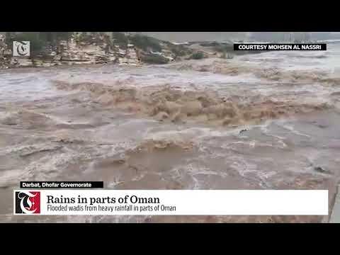 Rain in parts of Oman