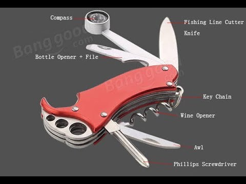 My 0,01€ K-MASTER 8 in 1 Multifunction Mini Folding Knife