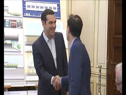 Συνάντηση του πρωθυπουργού Αλέξη Τσίπρα με τον πρόεδρο του ΙΣΝ