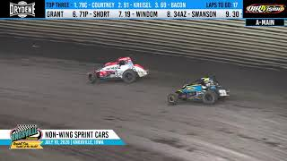Knoxville Raceway BRANDT Corn Belt Nationals Preliminary Night Highlights - July 10, 2020