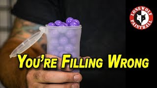 How to Fill a Paint Pod Correctly   Lone Wolf Paintball Michigan