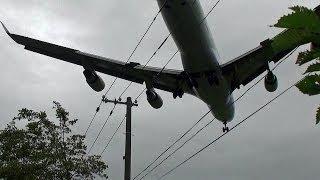 頭上着陸!!!ジャンボジェットの迫力!!!新千歳空港Boeing747-4