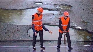 Как ремонтируют дороги в Украине? Скандал вокруг ямы, Как выехать из длинной пробки? | Дизель cтудио