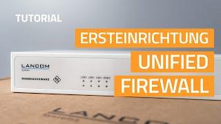 YouTube-Video Ersteinrichtung einer Unified Firewall
