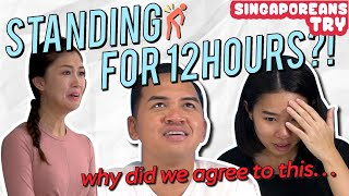 Singaporeans Try: 12 Hour Stand-A-Thon Challenge