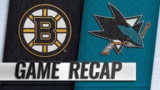 McAvoy, DeBrusk edge Bruins past Sharks in OT, 6-5