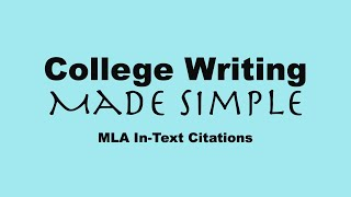 How to Write MLA In-Text Citations