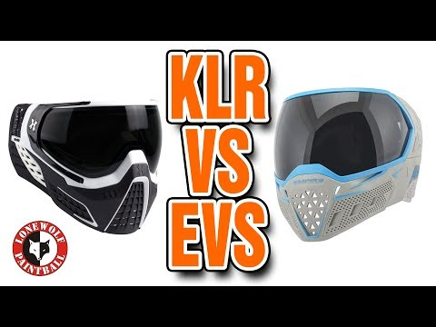 HK Army KLR vs Empire EVS Paintball Goggle Comparison | Lone Wolf Paintball Michigan