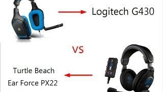 Testvideo Logitech G430 vs Turtle Beach Ear Force PX22 [Deutsch] [HD]