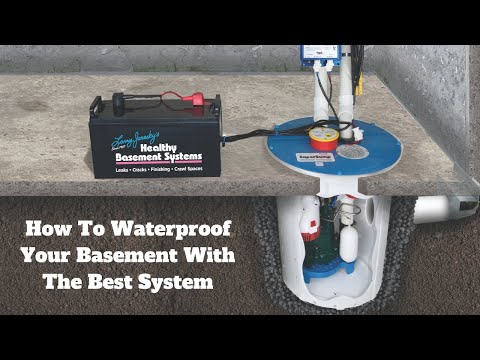 How To Waterproof Your Basement | Non-clogging system | Step By Step