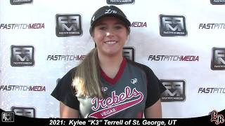 2021 Kylee 'K3' Terrell Athletic Middle Infielder and Outfield Softball Skills Video - Lil Rebels