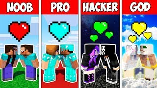 Minecraft NOOB vs PRO vs HACKER vs GOD : LOVE STORY in Minecraft Animation