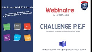 Webinaire Presentation PEF - Ligue du Centre Val de Loire