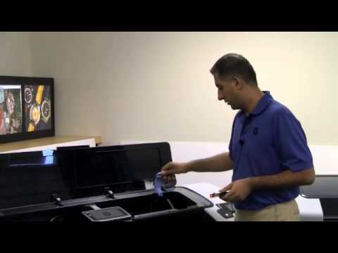 HP Designjet T790 and T1300 - Changing Ink Cartridges and Print Heads