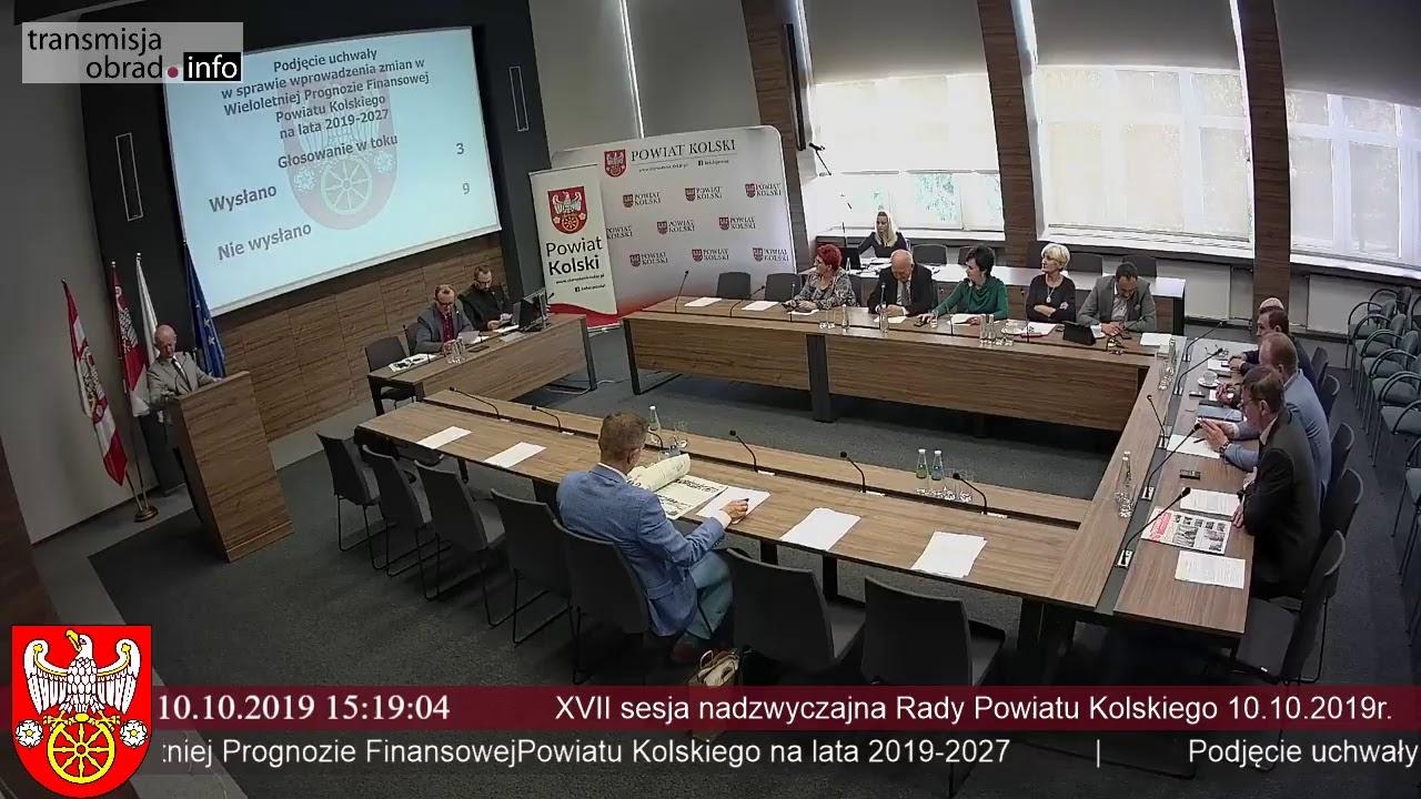 Zdjęcie do XVII Sesja Rady Powiatu Kolskiego