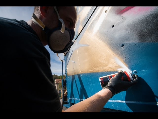 WOK paints the MOLOTOW TRAIN
