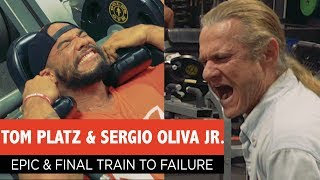 Tom Platz Trains Sergio Oliva Jr. to Failure