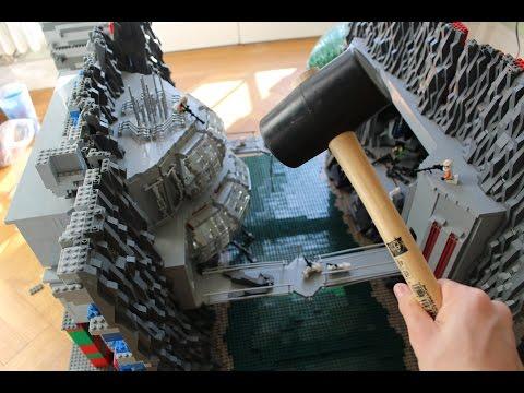 LEGO Star Wars DEUTSCH Base Destruction in Slow Motion