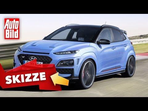 Hyundai Kona N (2020) | Diese Power-Version des SUV könnte 280 PS bekommen | Skizze