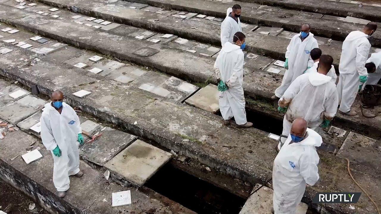 Βραζιλία: Νέοι τάφοι στο νεκροταφείο του Σάο Πάολο, καθώς αυξάνονται οι νεκροί από την πανδημία
