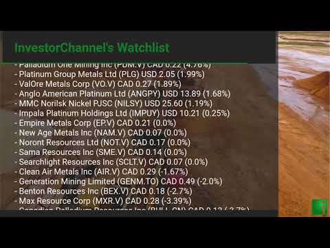 InvestorChannel's Palladium Watchlist Update for Monday, O ... Thumbnail