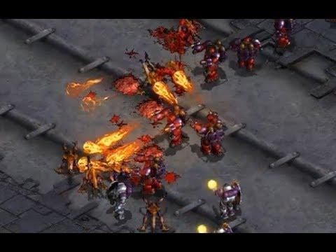 Larva (Z) v Flash (T) - StarCraft  - Brood War REMASTERED 2019
