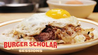 How to Cook a Hawaiian Loco Moco Burger with George Motz | Burger Scholar Sessions