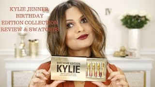 KYLIE JENNER BIRTHDAY EDITION COLLECTION  MATTE LIQUID LIPSTICK KIT + LEO  SWATCHES AND REVIEW