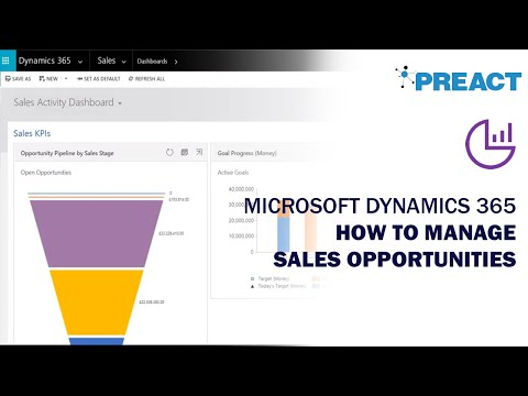 Microsoft Dynamics 365: Managing Sales Opportunities - YouTube