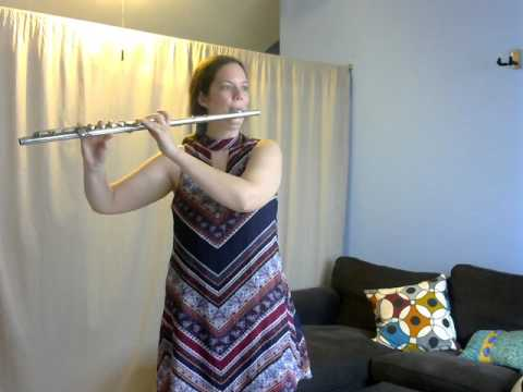 Long Long Ago on flute from Suzuki flute book 1.