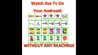 Free Live TV on Android Mobile Any Network 2G / 3G / 4G