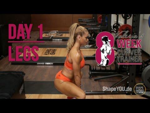 Trainingsplan für Frauen mit Valeria Ammirato - CURVESTRAINER - Tag 1 Bauch Beine Po