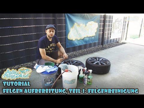 Autopflege24 Tutorial: Felgen Aufbereitung, Teil 1 - Felgenreinigung (CarPro IronX, Tuga Aluteufel)