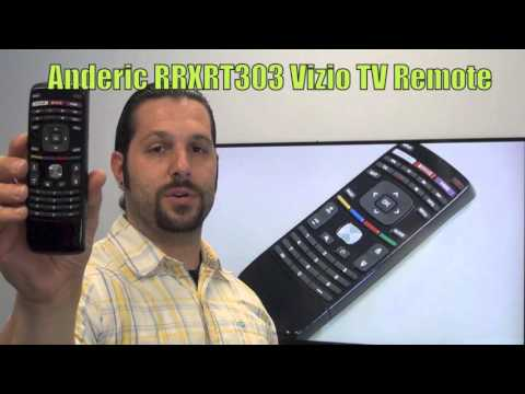 ANDERIC RRXRT303 with QWERTY for Vizio TV Remote Control
