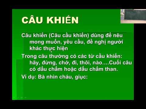 Tiểu học Tri Phú - Tiếng Việt Lớp 5 - Câu khiến