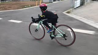 小学三年生 700c ロードバイクデビュー