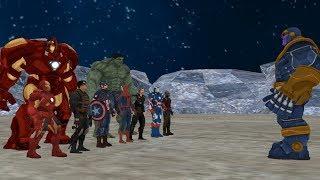 Thanos vs Avengers, Part-1, ( Thanos vs Ironman , Hulk , Captain America , Thor , Spiderman )