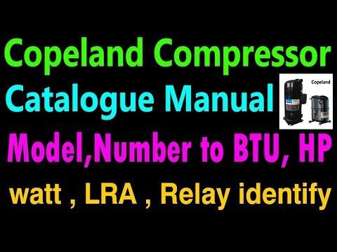 How to Find LRA to BTU , HP Copeland scroll compressor