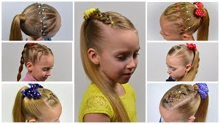 7 Easy Everyday Hairstyles ★ PIGTAILS & ELASTICS (Easy Little Girl Hairstyles #24) #LGH