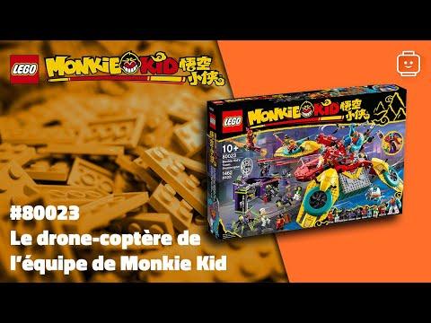 Vidéo LEGO Monkie Kid 80023 : Le drone-coptère de l'équipe de Monkie Kid