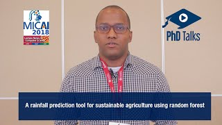 A rainfall prediction tool for sustainable agriculture using random forest