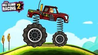 Супер ПРЫЖОК - машинки Хилл Климб Рейсинг 2 / прохождение игры для детей. ЛЕТСПЛЕЙ