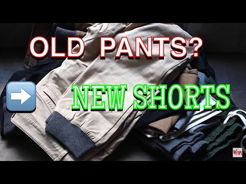 EASY FASHION TIPS – TURNING OLD PANTS TO NEW SHORTS! DIY!