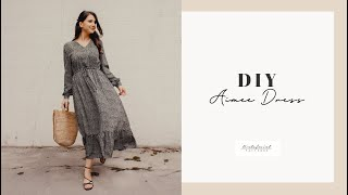 DIY Aimee Maxi Frill Dress Tutorial - TintofmintPATTERNS