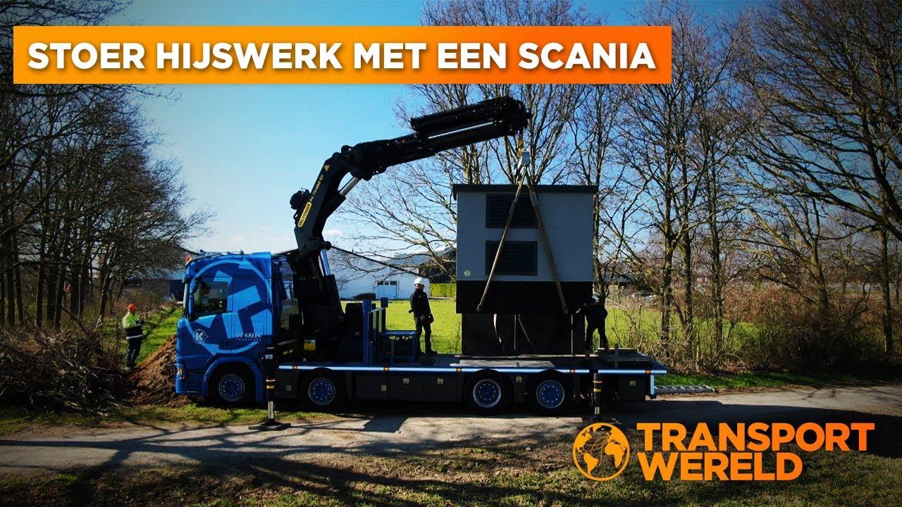 Stoer hijswerk met een Scania