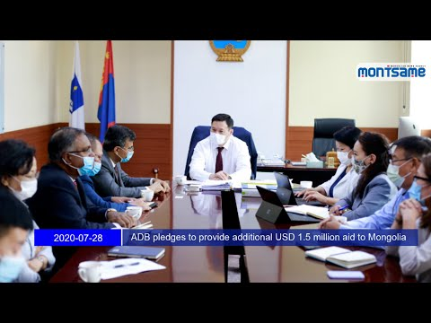 ADB pledges to provide additional USD 1.5 million aid to Mongolia