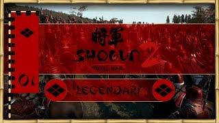 Let's Play Total War: Shogun 2 (Legendary) - Takeda - Ep.01 - Riding to Glory!