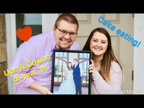 Ups and Downs of Year One! CAKE EATING!! How we met!